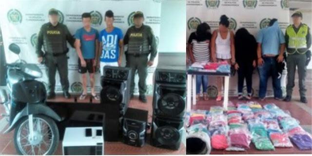 3 hombres y 4 mujeres fueron capturados por hurto a vivienda y a local comercial en Girardot, Cundinamarca
