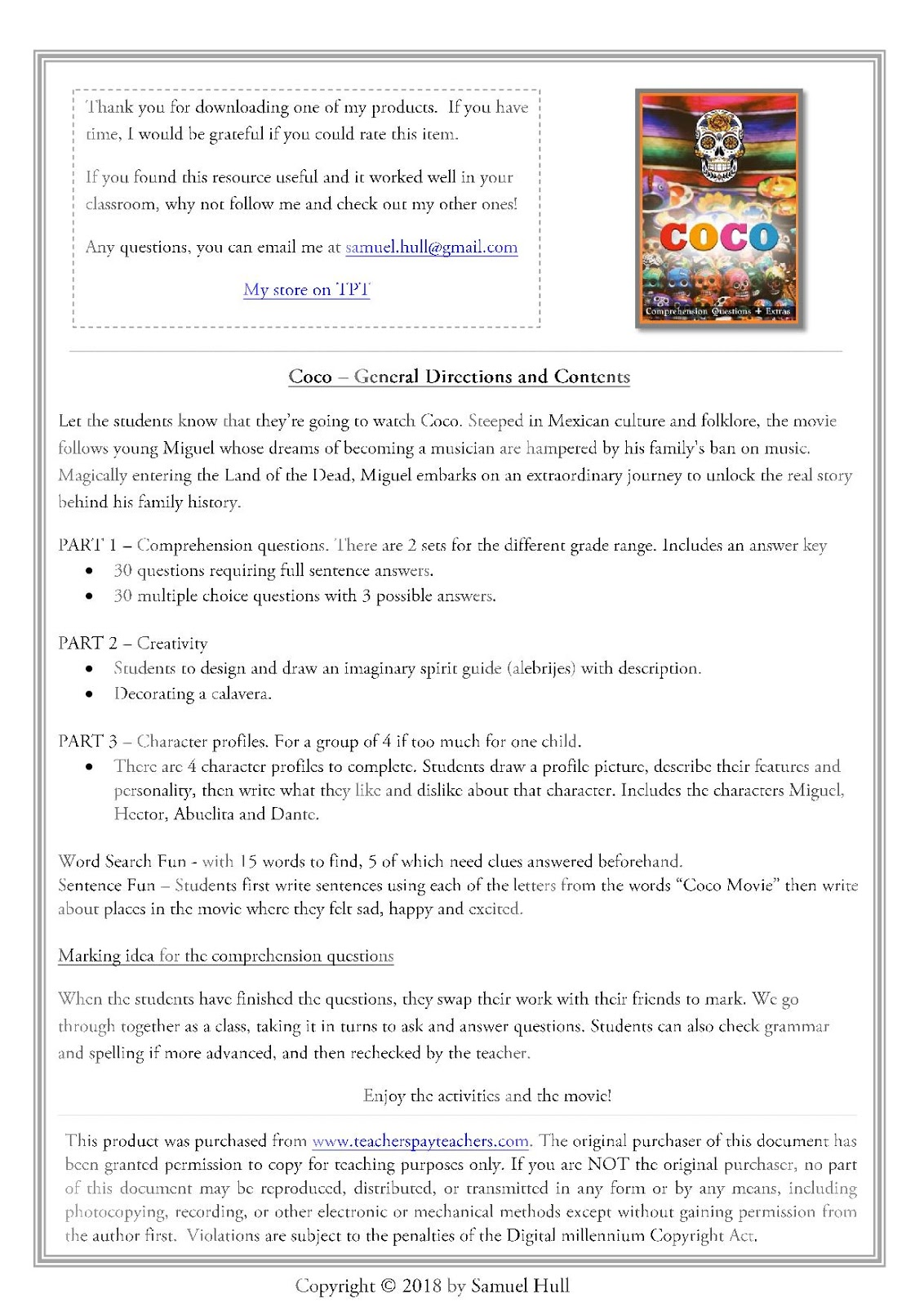 Coco Movie Guide Activities Color Black Amp White