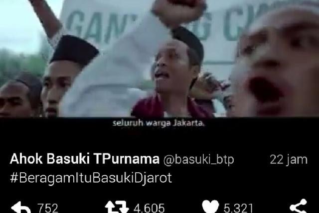 Video Kampanye Ahok Djarot Dihapus, Netizen Bertanya