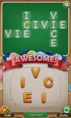 Word Blocks Level 181