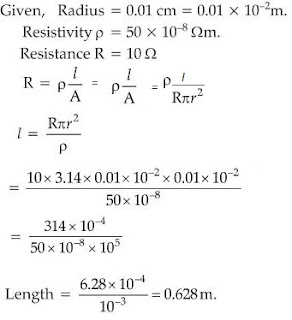 Extra Questions for Class 10th: Ch 12 Electricity Science - Study