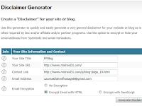 Cara Membuat Disclaimer Otomatis Pada Blog