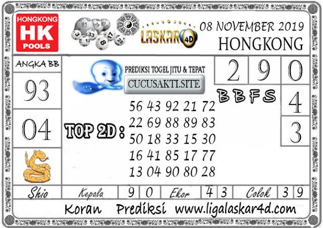 Prediksi Togel HONGKONG LASKAR4D 08  NOVEMBER 2019