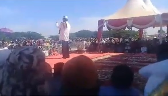 Tabligh Akbar UAS di Aceh: Capres 2019 Tunggu Komando Imam Besar Habib Rizieq