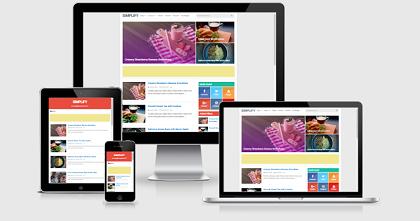 Simlify v2 Adsense Blogspot Template