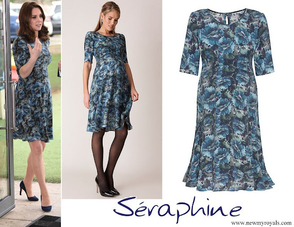 Kate Middleton wore Seraphine Florrie Floral Print Maternity Dress