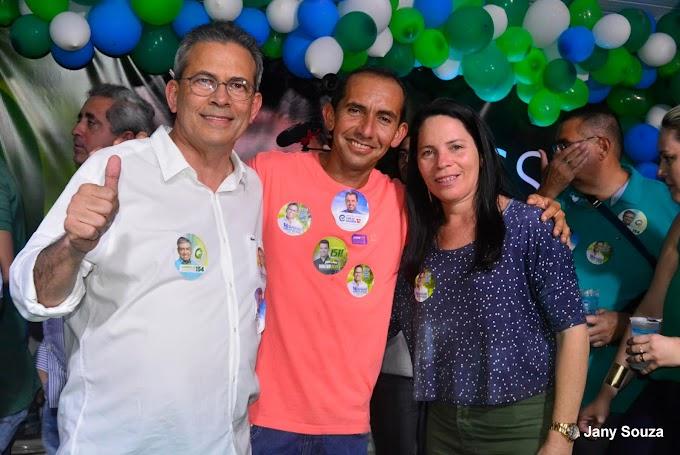Vereadora Irani Antunes prestigia lançamento oficial da campanha à reeleição do deputado estadual Hermano Morais do (MDB).