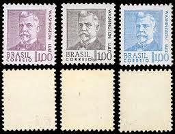 Resultado de imagem para selo de Washington Luís Pereira de Sousa