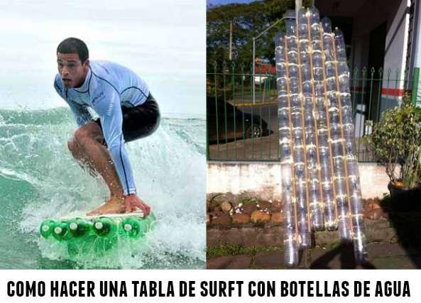 Como hacer una tabla de surft con botellas de plastico