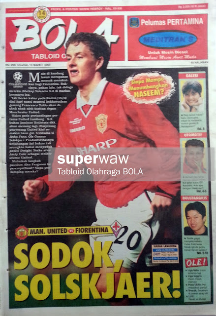 Tabloid BOLA: SODOK SOLSKJAER!