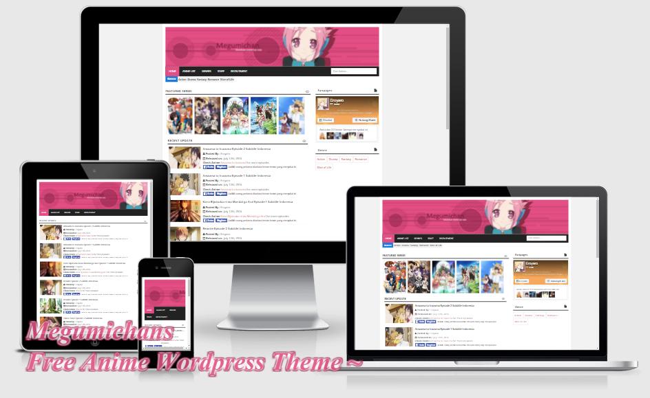 Megumichans - Anime Wordpress Theme