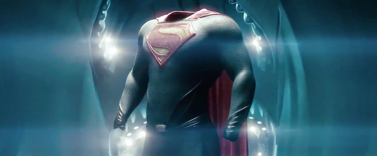 Superman gets a brand new suit in the 2013 film Man of Steel starring Henry Cavill.