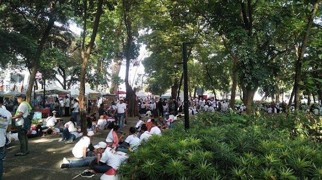 Diusir Keluar Stadion GBK Senayan, Relawan Jokowi-Amin Keleleran di Taman