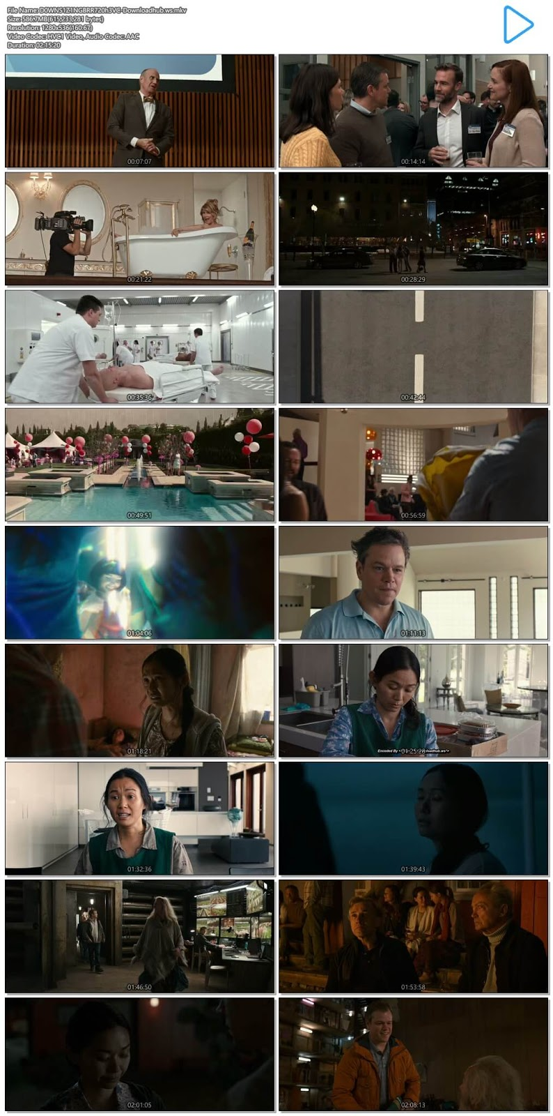 Downsizing 2017 English 720p HEVC BRRip ESubs