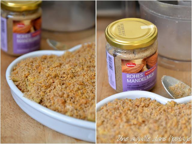 Crumble pommes-abricots secs (IG bas,sans beurre)