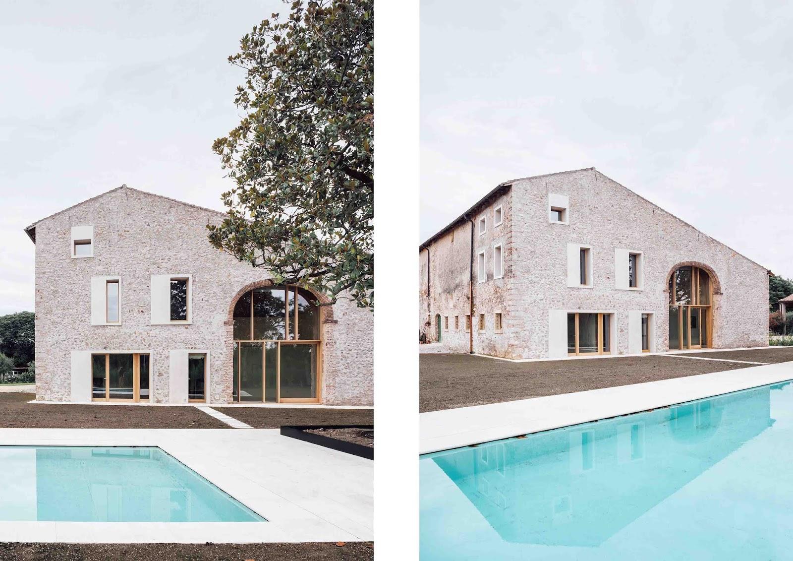 Facciata Casa Di Campagna casa di campagna in stile rustico e contemporaneo a verona