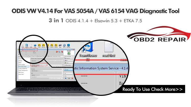 VAS 6154 VAS 5054A VW ODIS V4 1 3 ODIS Diagnose Software