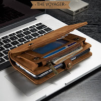Dompet clutch casing hp kulit Samsung Galaxy S7 Edge leather case asli import caseme wallet original unik lucu keren mewah luxury vintage