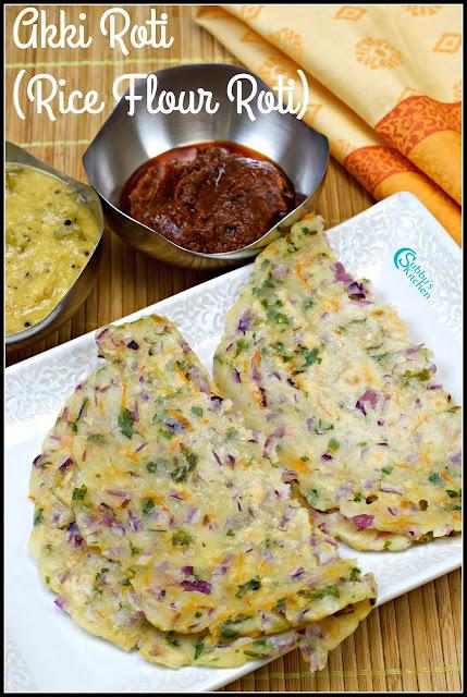 Akki Roti Recipe | Rice Flour Roti Recipe