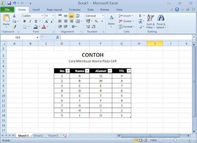 Cara Memberi Warna Pada Cell Ms Excel