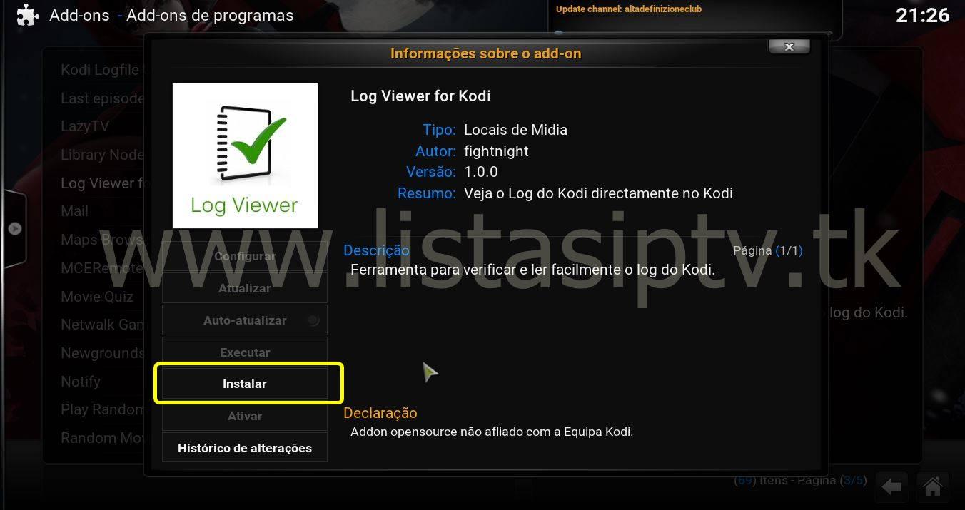 Tutorial Como Ver o Erro de Log no Kodi - I LOVE IPTV