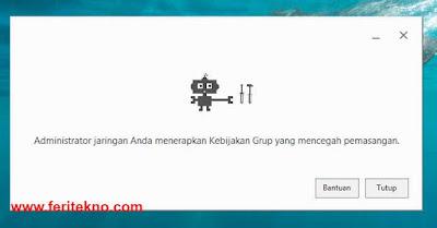 Google Chrome Tidak Mau di Install