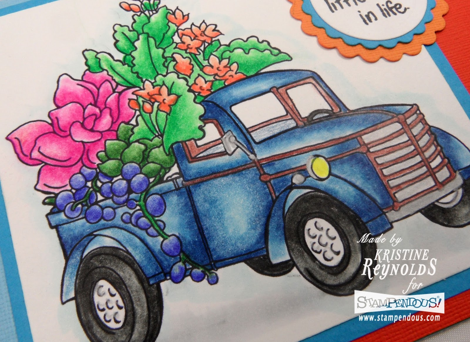 Succulent Truck Stampendous Cling Stamp