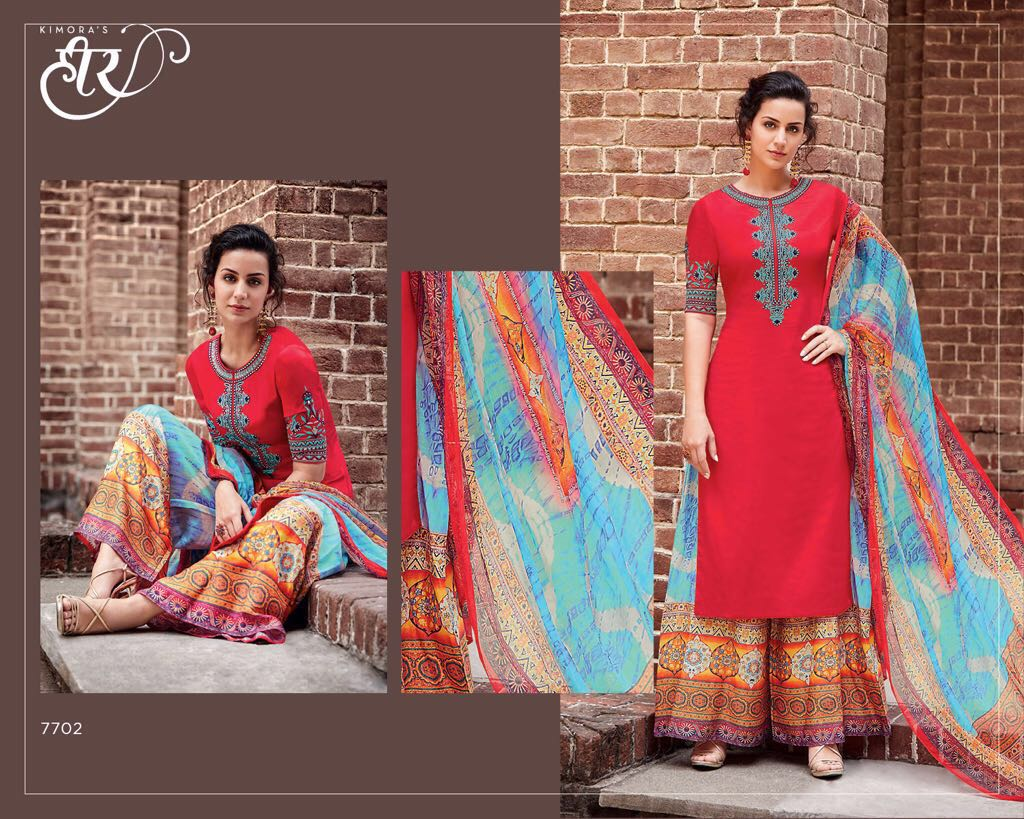 Heer-28 – New Arrival Pure Cotton Satin Dress Material