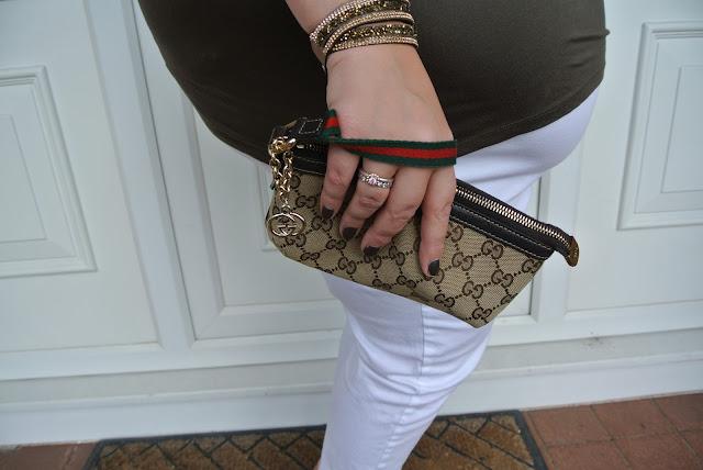 Gucci Logo Wristlet