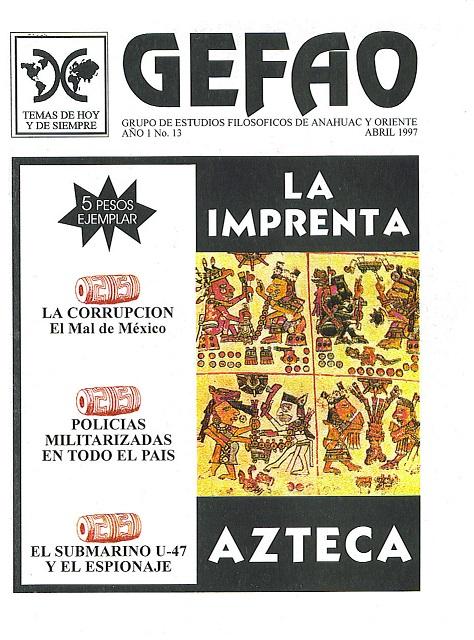 La Imprenta Azteca, Casa Editorial GEFAO