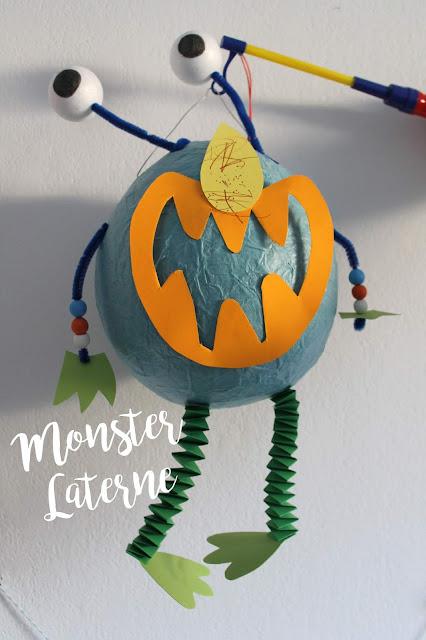 DIY Monster Laterne selbermachen Jules kleines Freudenhaus