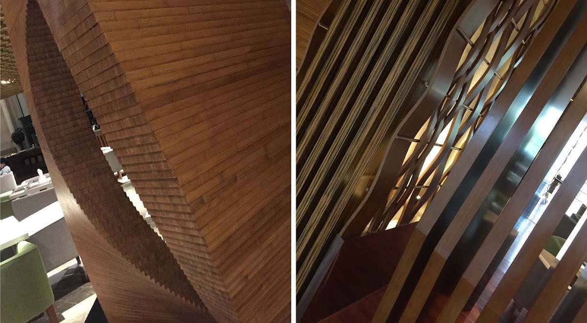 Resort spa narada un hotel vestido con bamb espacios en - Suelos de bambu ...