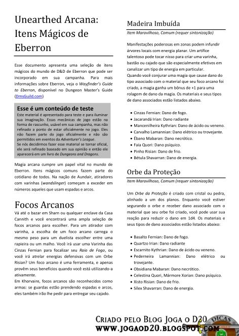 unearthed arcana 3.5 portugues