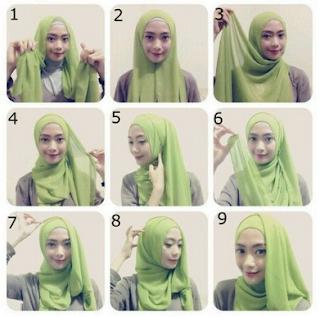 Model hijab untuk wisuda yang ketiga