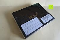 Verpackung: bupell Flache Portemonnaie mit herausnehmbarem Ausweisfach - Aus echtem Leder - Seitlichem Münzfach mit Reißverschluss - Schwarz