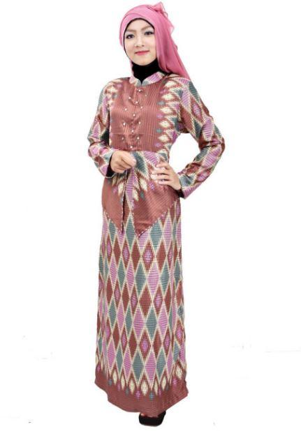 10 Model Gamis Batik Kombinasi Polos Terbaru 2018
