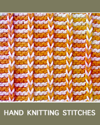 Learn Stripes Slip Stitch Pattern with our easy to follow instructions at HandKnittingStitches.com