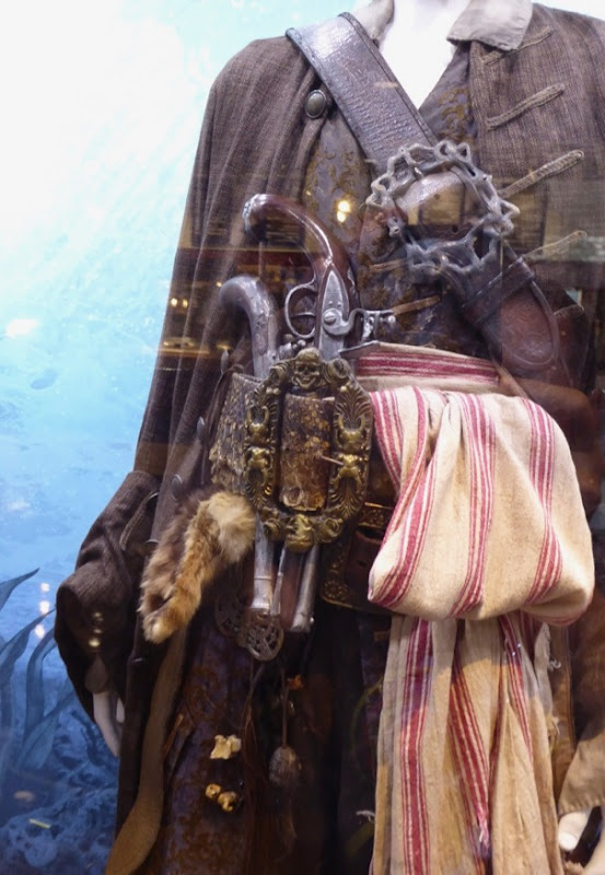Pirates Caribbean Dead Men Jack Sparrow costume detail