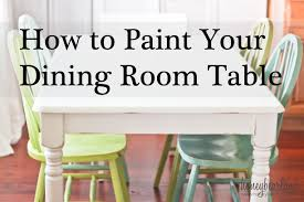 How To Paint A Dining Room Table , pinterest