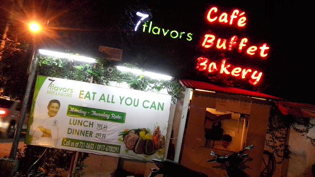 7 Flavors Buffet and a la Carte is located in 196 A. Mabini Street, Addition Hills, San Juan, Philippines. For table reservations, you may call 5430325 / 7210653 09176700291 09334177387.