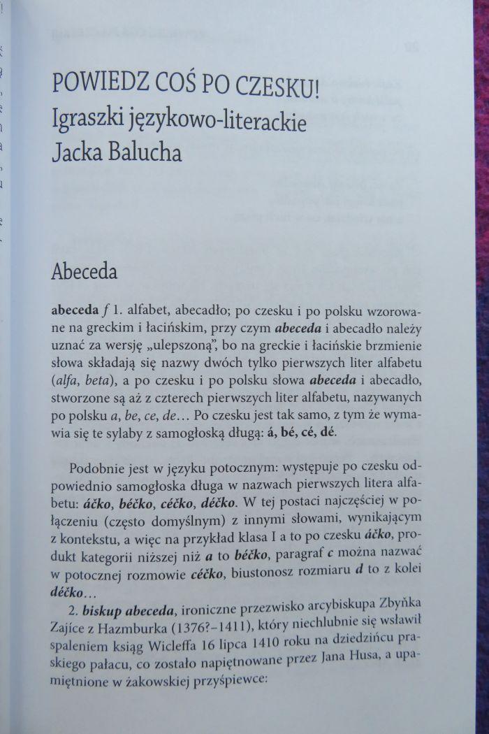 To Przeczytałam Jacek Baluch Powiedz Coś Po Czesku
