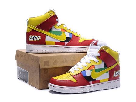 separation shoes 98a76 7efa9 lego nike dunks high tops shoes for men