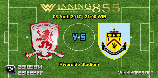Prediksi Skor Middlesbrough vs Burnley 08 April 2017