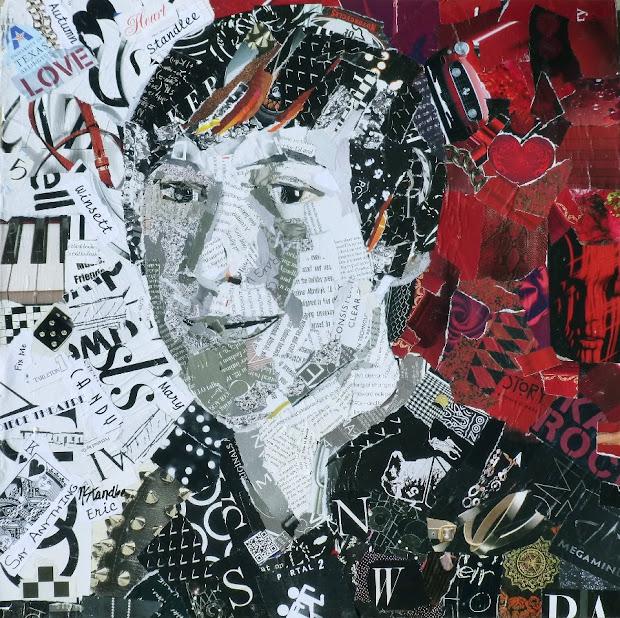 Torn Paper Collage Portrait