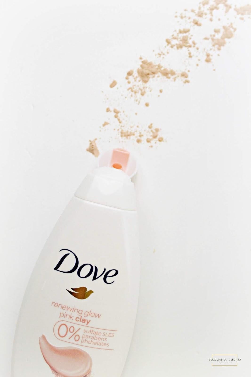 Dove, żel pod prysznic z różową glinką
