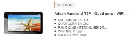 tablet andoid murah advan
