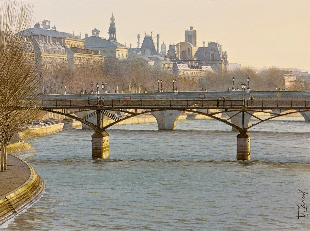 18-Paris-Thierry-Duval-Snippets-of Real-Life-in Watercolor-Paintings-www-designstack-co