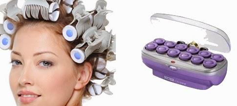 rulos o rolos para hacer peinados