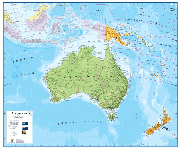 peta benua australia-oceania
