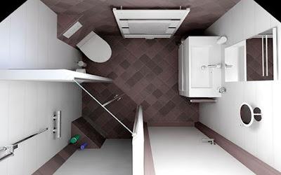 Desain Kamar Mandi Minimalis dengan Shower